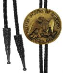 24ct Gold Plated Eagle USA Coin Bolo Tie. Code BTWW14G